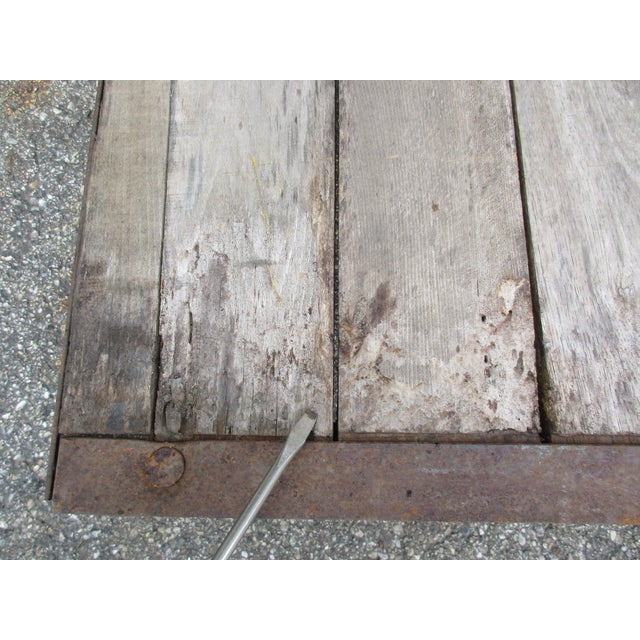 Metal 20th Century Industrial Pallet/Coffee Table For Sale - Image 7 of 12