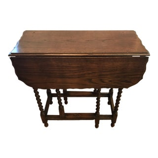 20th Century English Traditional Gate Leg Drop Leaf Table For Sale
