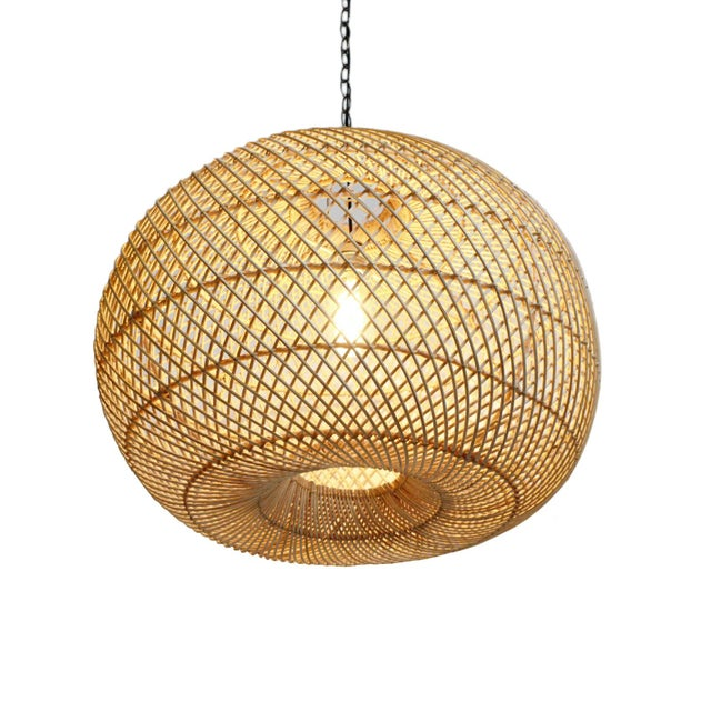 Rattan Donut Lantern For Sale In Los Angeles - Image 6 of 6