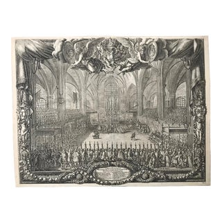 Antique Engraving of the Coronation Queen of Sweden at Stockholm 25. Oct.1654 For Sale
