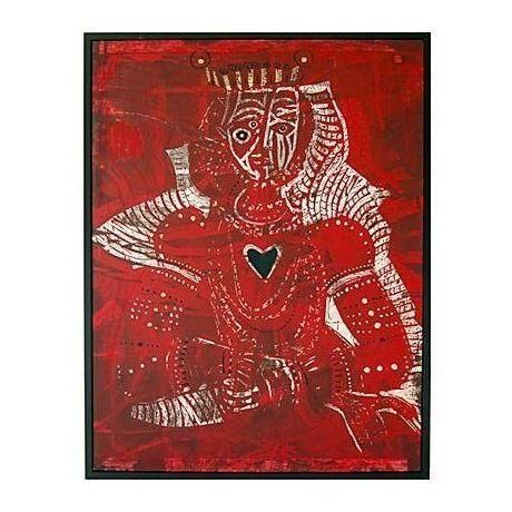 Santos Cortes Red Queen of Hearts Print - Image 1 of 1