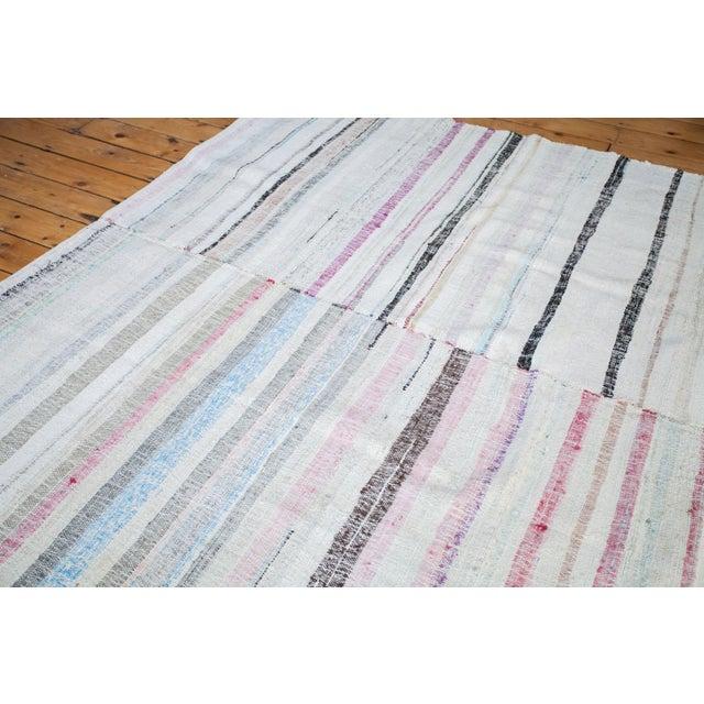 "Vintage Cotton Area Rag Rug - 7'10"" x 8'7"" - Image 9 of 9"