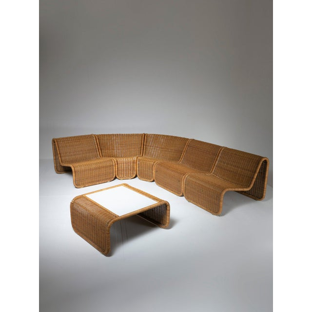 Mid-Century Modern Large Wicker Set by Tito Agnoli for Bonacina For Sale - Image 3 of 10