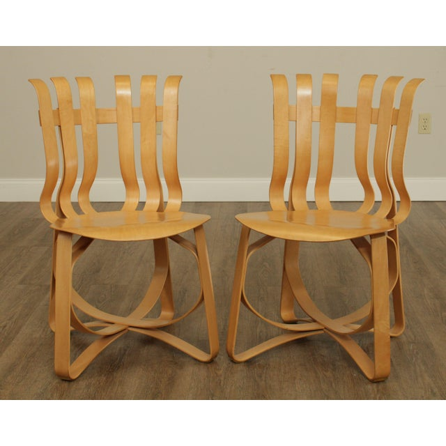 High Quality Bent Maple Wood Pair of Modern Design Chairs by Frank Gehry for Knoll Store Item#: 26230