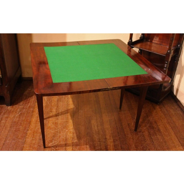Neoclassical French Games Table For Sale In Raleigh - Image 6 of 6
