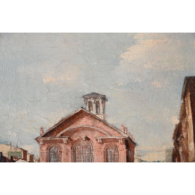 French Impressionist Street Scene Oil Painting - Image 7 of 10