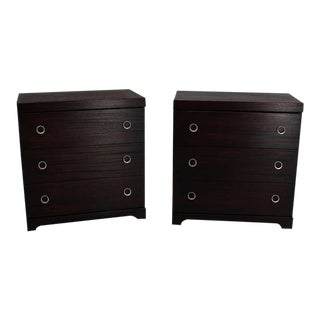 Pair of Mid Century Modern Deco Style Bachelor Chests or Dressers For Sale