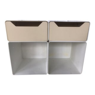 1960s Mid Century Modern Plastic Modular Drawers Cubes - Set of 4 For Sale
