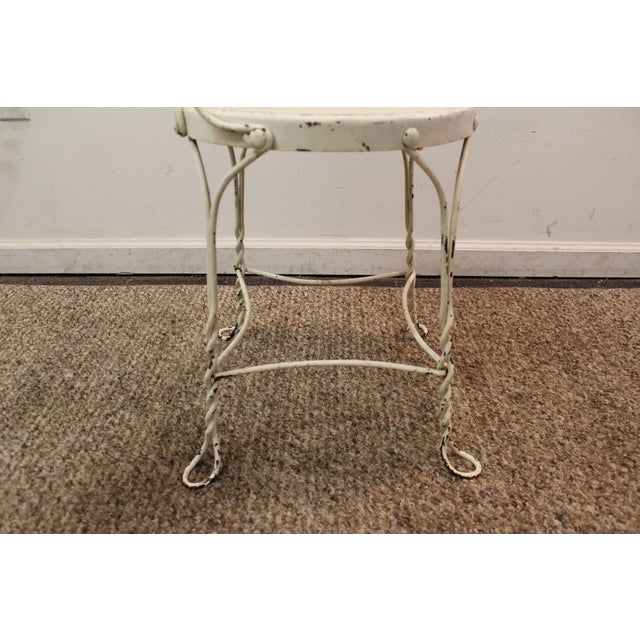 Vintage Ice Cream Heart-Back Wire Side Chair - Image 8 of 11