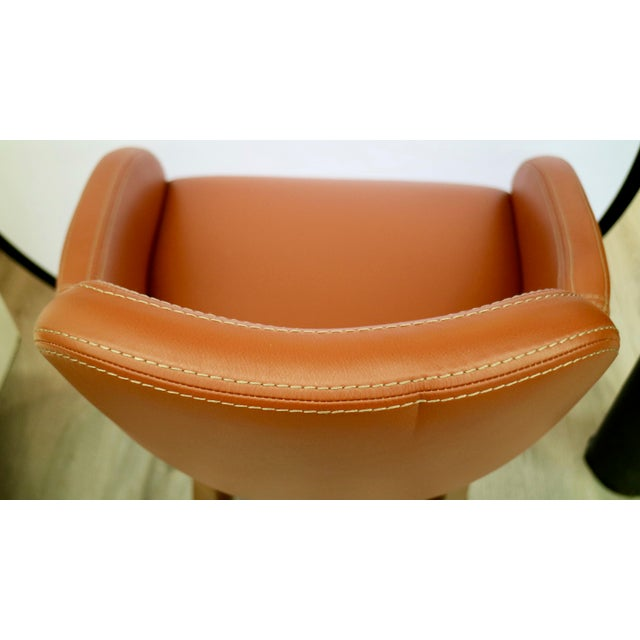2010s Custom Leather Chair For Sale - Image 5 of 7