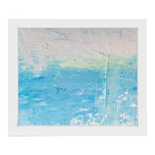 """""""Coasted"""" Contemporary Coastal Abstract Acrylic Painting, Framed For Sale"""