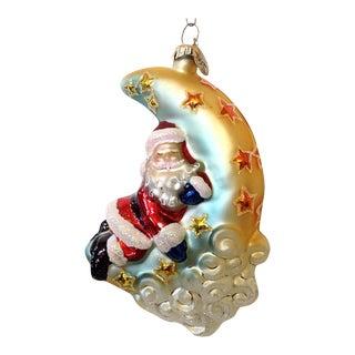 Christopher Radko Half Moon Santa Christmas Ornament
