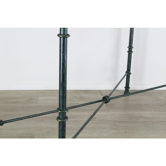 Diego Giacometti Style Iron Console Table, Metal Console Table For Sale - Image 9 of 10