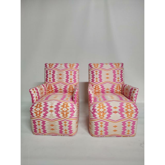1920s Bright Geometric Arm Chairs - a Pair For Sale - Image 11 of 11