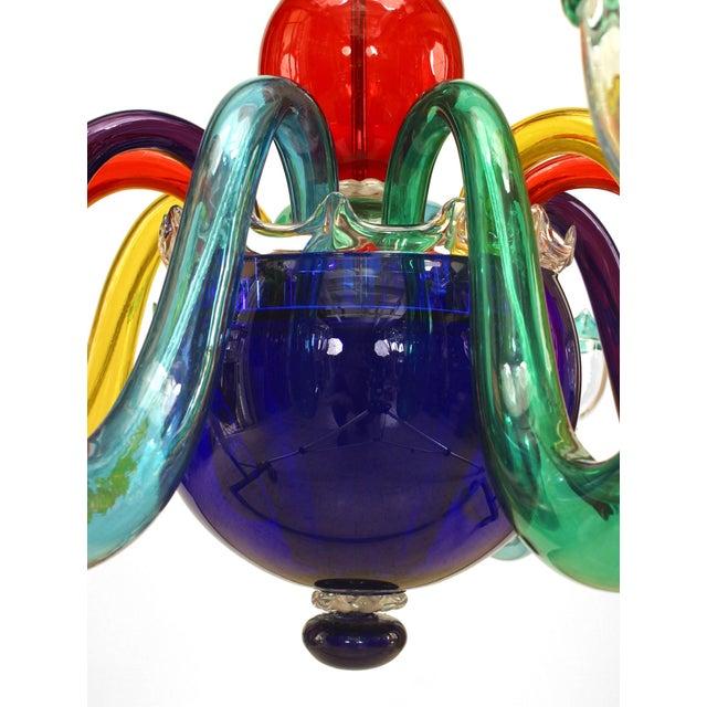 Gio Ponti Italian 1950s Multicolored Murano Glass Chandelier For Sale - Image 4 of 5