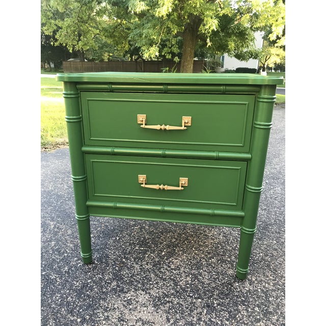 Asian Vintage Henry Link Bali Dresser and Night Stand For Sale - Image 3 of 5