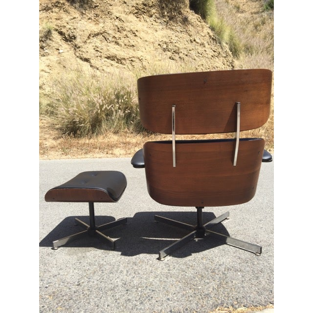 Fully Restored Plycraft Eames Lounge With Ottoman - Image 4 of 9