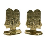 Image of Brass Lex Scale Bookends For Sale