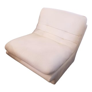 Cream Lounge Slipper Chair For Sale