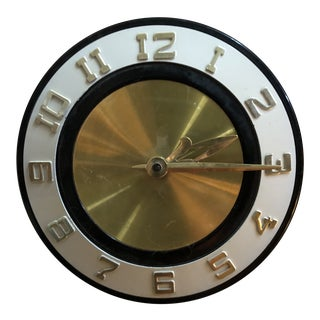 Mid-Century Modern Electric Wall Clock For Sale