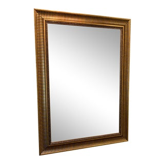 Vintage Beveled Mirror With Gold Frame For Sale