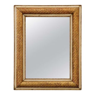 French 19th Century Parcel-Giltwood Mirror For Sale