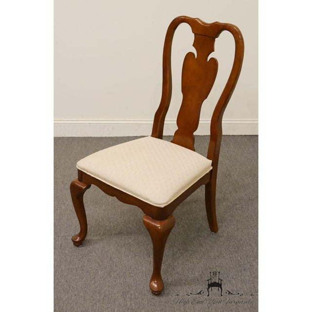 Queen Anne Universal Furniture Cherry Splat Back Queen Anne Style Dining Side Chair For Sale - Image 3 of 8