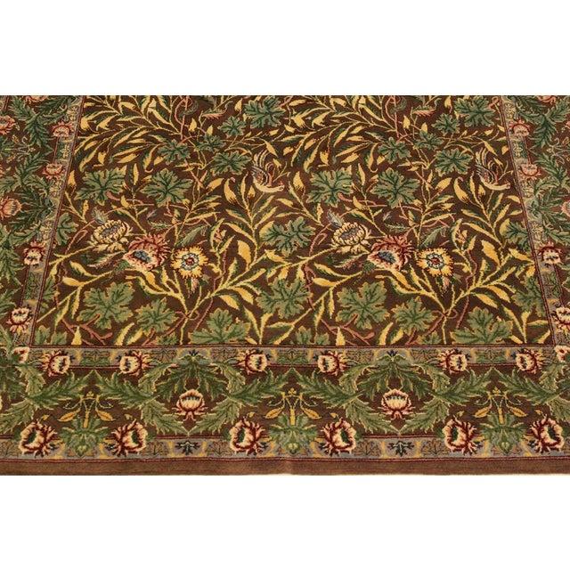 Textile Imran Pak-Persian Mellisa Brown/Green Wool Rug - 4'0 X 6'4 For Sale - Image 7 of 8