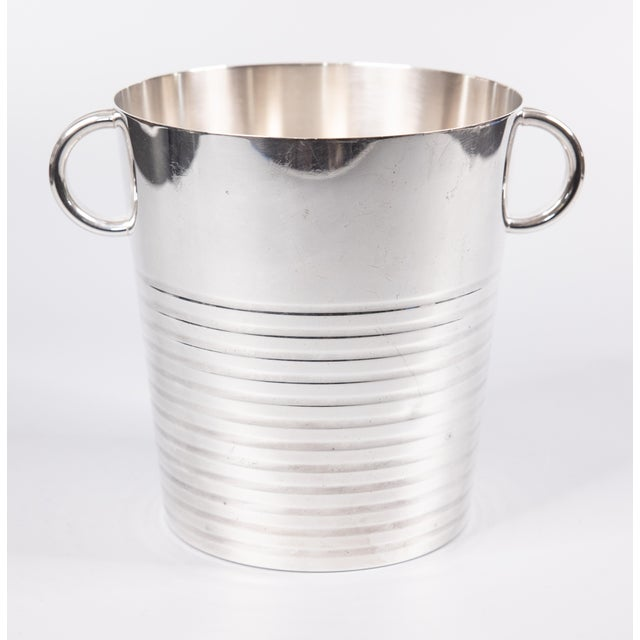 Art Deco Art Deco French Christofle Silver Plate Champagne Bucket For Sale - Image 3 of 8
