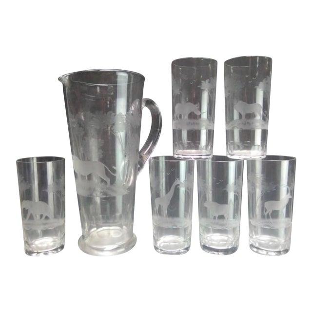 Rowland Ward Kenya Safari Glassware - Set of 7 For Sale