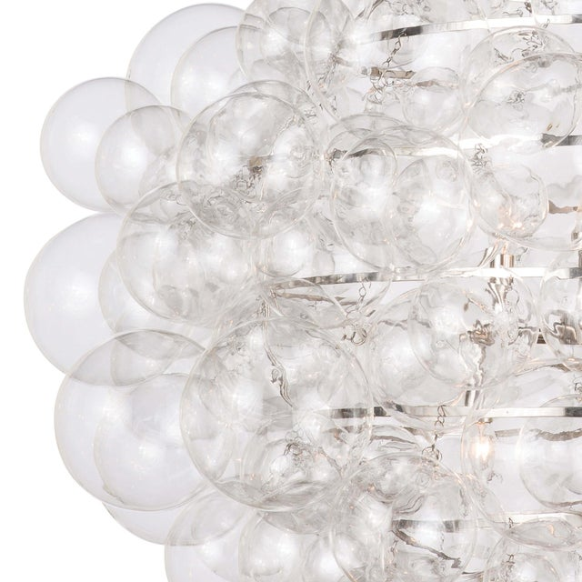 Traditional Nimbus Glass Chandelier in Clear For Sale - Image 3 of 7