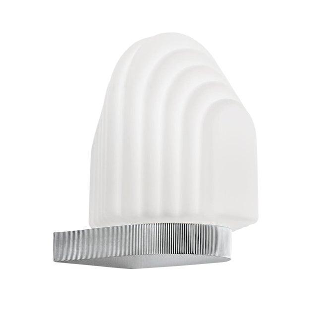 Art Deco Style Polished Chrome Bathroom Wall Light IP44 For Sale