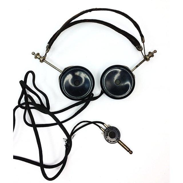 1920s 4 Tube Regen Wood Case Radio & C. Brandes Headphones - Image 10 of 10