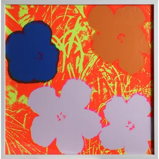 Warhol Flowers 10, Sunday B Serigraph Framed