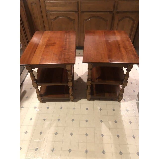 Stickley Brothers 1950s Cherry Stickley End Tables - a Pair For Sale - Image 4 of 13