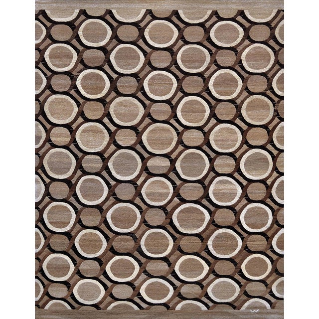 Textile Wool Flatweave Rug Handwoven in Turkey For Sale - Image 7 of 7