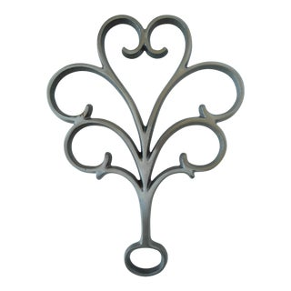 Vintage Dansk Jens Quistgaard Cast Iron Trivet For Sale