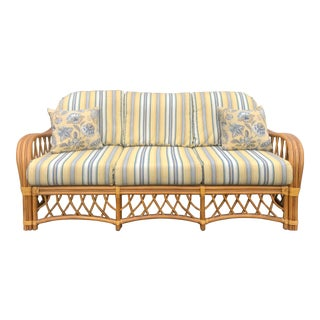 1970s Vintage Bamboo Sofa For Sale