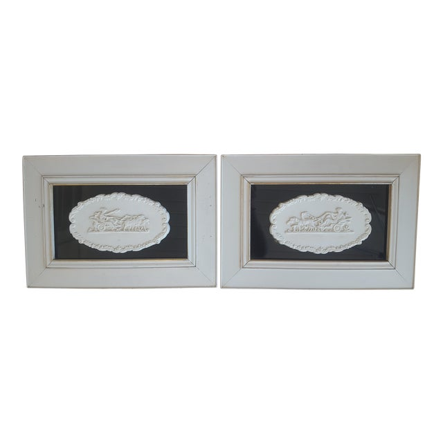 Vintage Neoclassical Framed Intaglios - a Pair For Sale