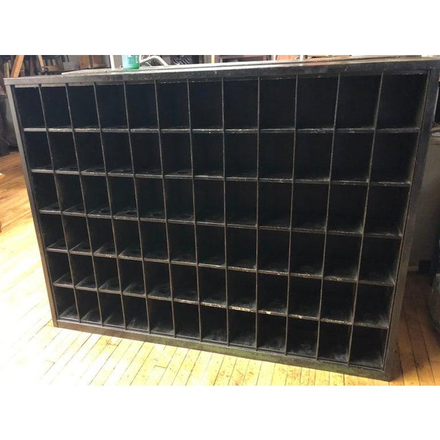 Storage Cabinet of Painted Steel as Wine Rack, Dvd, CD Storage, 72 Cubbies For Sale - Image 4 of 13