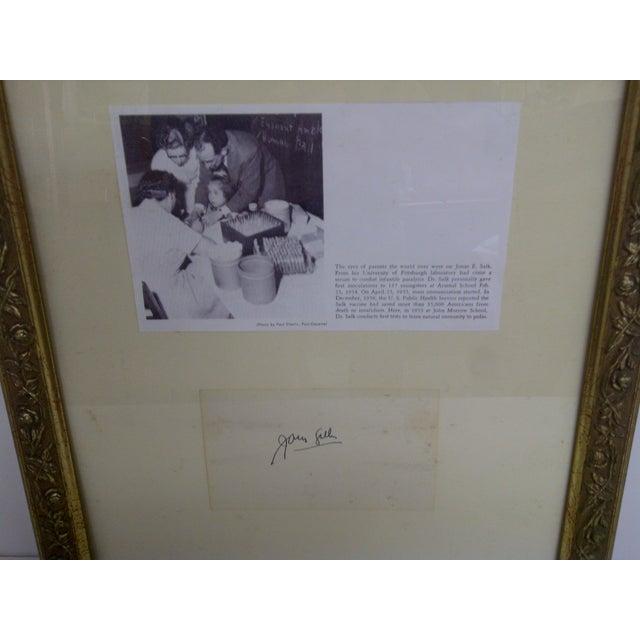 Traditional Jonas Salk Autograph & Photograph For Sale - Image 3 of 6