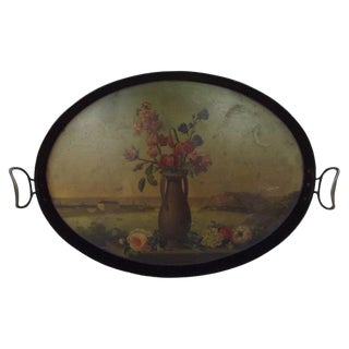 Napoleon III Decorated Tole Tray For Sale