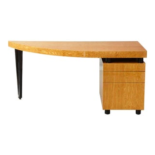 Memphis Style Triangular Lacquered Boca Desk by Leon Rosen for Pace, 1980's For Sale