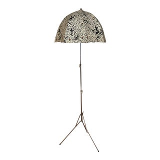 George Kovacs Height Adjustable Patterned Umbrella Floor Lamp For Sale