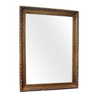 19th C. Italian Worn Gilt Mirror For Sale