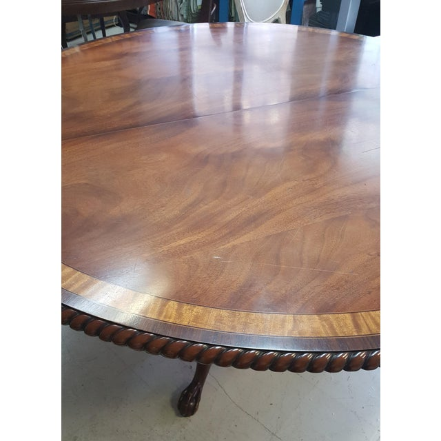 Traditional Millender Round Mahogany Dining Table For Sale - Image 4 of 13
