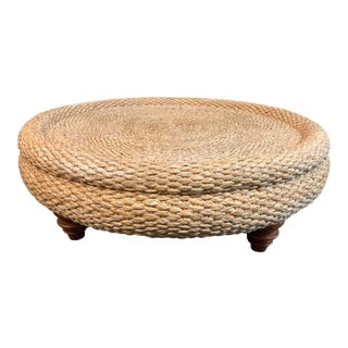 Round Seagrass Coffee Table For Sale