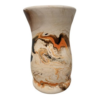 Mid 20th Century Wide Mouth Nemadji Vase For Sale