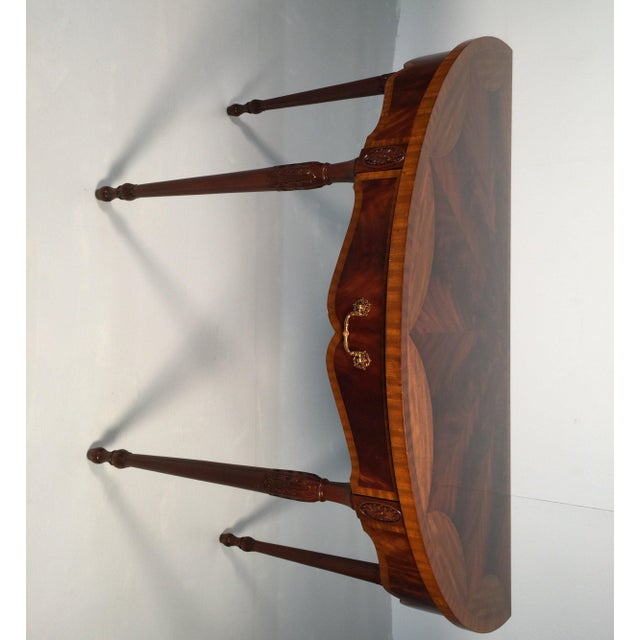 1990s English Traditional Maitland Smith Demi-Lune Console Tables - a Pair For Sale - Image 10 of 13