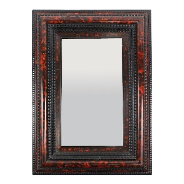 Flemish Faux Tortoiseshell Mirror For Sale
